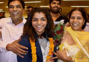 Olympic bronze medal winning wrestler Sakshi Malik arrived- India Tv