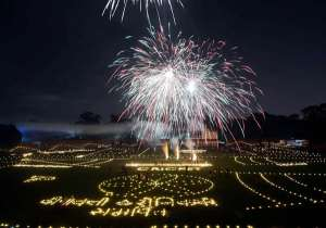 Fireworks illuminated the evening sky, earthen lamps dotted- India Tv