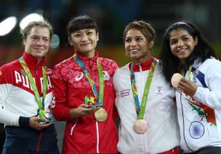 Sakshi had lost 2-9 in the quarter-finals to Russia's Valeriia Koblova in the fifth bout of the day before getting a second chance in repechage when her conqueror reached the final.