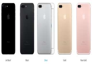 iPhone 7 Plus in all its colour variants -- silver, gold, rose gold and the new black finish.