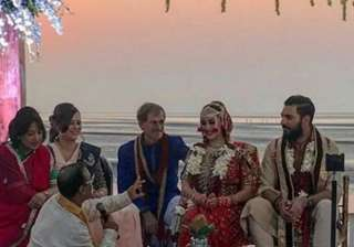 A look at Yuvraj-Hazel's beautiful wedding ceremony at Teso Waterfront in Goa.