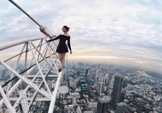 she took this picture at a breath-taking height of 320 metres.