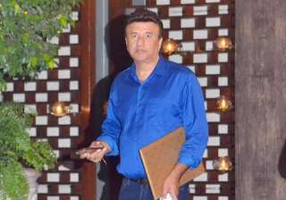 Anu Malik chose a blue shirt for the event.