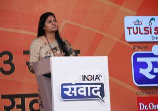 """Answering to India TV's question at """"Samvaad"""", Minister of State in the Ministry of Health and Family Welfare Anupriya Patel said, """"We have brought a new national health policy in 15 years. We will take the expenditure on health to 2.5 pc of GDP from 1 pc. We are focusing on preventive healthcare."""""""