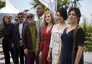 Jury members from right Agnes Jaoui, Fan Bingbing, Jessica Chastain, Will Smith, Jury president Pedro Almodovar, Paolo Sorrentino, Gabriel Yared, Park Cha-Wook and Maren Ade pose for photographers during the photo call for the Jury at the 70th international film festival, Cannes, southern France, Tuesday, May 16.