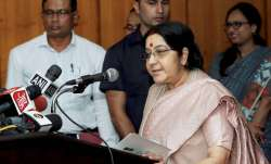 Sushma Swaraj is on a two-day visit to Bangladesh at the