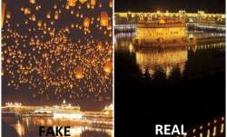 golden temple photoshop image