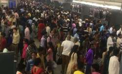 Rajiv Chowk station witnessed massive crowding. Photo ANI
