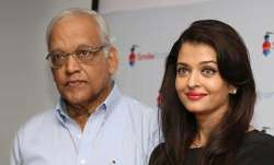 Aishwarya Rai Bachchan with her father