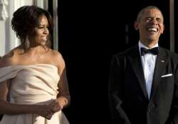 Michelle Obama stunned in Indian-American fashion designer