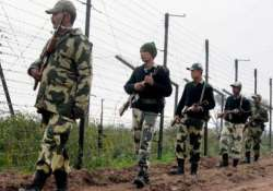 Security personnel guard along the border in Punjab