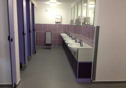 You can use the toilet at any South Delhi Restaurant at