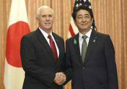 Mike Pence meets Shinzo Abe in Tokyo
