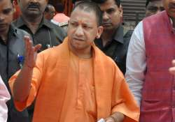 Yogi Adityanath arrives at circuit house for a meeting in- India Tv