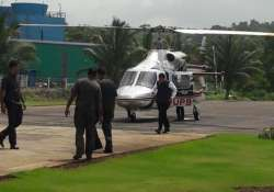 Fadnavis escaped a potential helicopter accident in Raigad