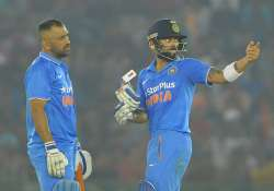 Virat Kohli and Mahendra Singh Dhoni of India during the