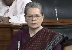 File pic - Sonia Gandhi in the Lok Sabha during the ongoing