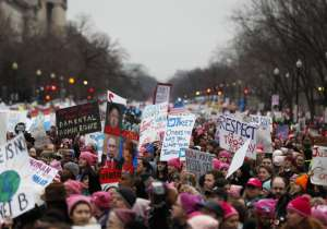 Nearly half a million gathered during the Women's March on- India Tv