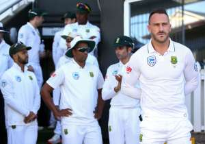Faf du Plessis of South Africa looks on during the match- India Tv