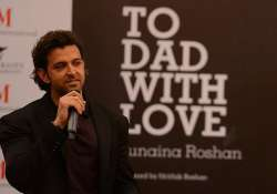 hrithik roshan launches sister s book on father at iifa
