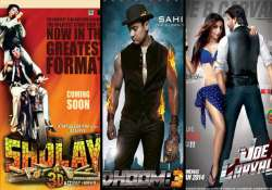 sholay 3d box office collection rs 1.50 cr on day 1 dhoom 3
