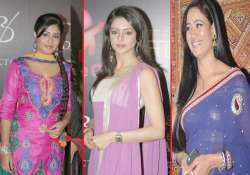 small screen bahus at the launch of ek thi naayaka watch