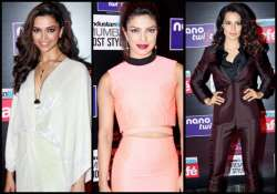 deepika priyanka kangana sizzle at the ht stylish awards
