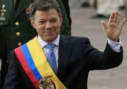 colombian president sworn in for second term
