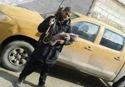 indian origin isis member poses with his newborn baby and
