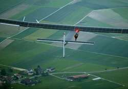solar powered plane takes off for flight around the world