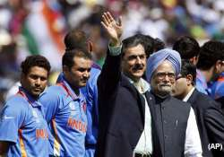 both pms shake hands with india pak players