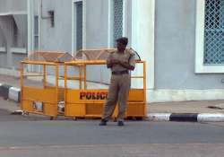 curfew in yanam near puducherry after workers torch buses