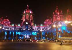 mumbai s iconic cst lit up in colours of french tricolour