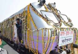 train to vajpayee s village flagged off 16 years after he