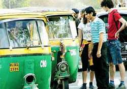 large number of autos taxis go off delhi roads commuters hit