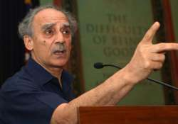 arun shourie disapproves stalling of parliament by bjp