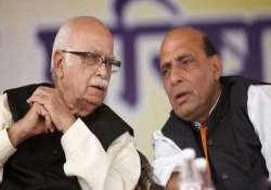 call on advani s role to be taken after consulting him