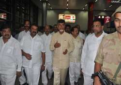 telangana naidu discharged leaves by air for hyderabad