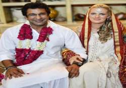 exclusive pic of wasim akram s wedding with australian