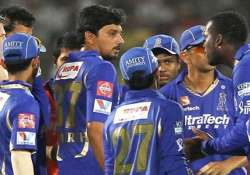 ipl6 shocked rajasthan royals team arrives in hyderabad