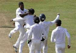 sl vspak pakistan holds slim lead over sri lanka at tea on