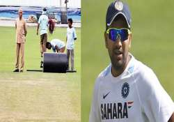 rohit sharma prevented from inspecting the pitch by eden