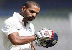 shikhar dhawan suffers hand injury