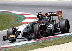 force india drivers to start 4th 7th in british gp