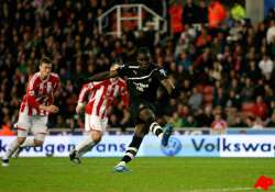 ba s hat trick gives newcastle 3 1 win over stoke
