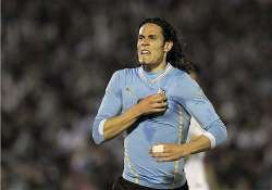 fifa world cup uruguay downs slovenia 2 0 in warm up