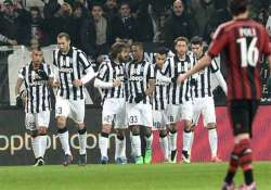 juventus beats ac milan 3 1 to go 10 points clear in serie a