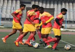 east bengal play i league match before empty stands