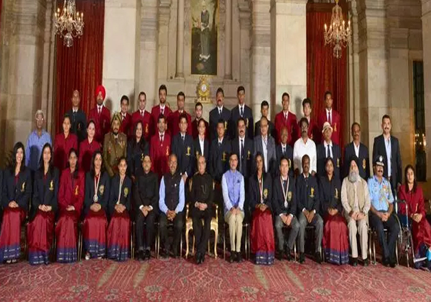 Olympic stars PV Sindhu, Sakshi Malik and Dipa Karmakar were on Monday conferred India's highest sporting honour - the Rajiv Gandhi Khel Ratna - along with shooter Jitu Rai in a gleaming awards ceremony at the Rashtrapati Bhawan.