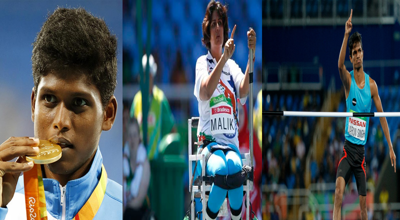 Indian athletes created history when Mariyappan Thangavelu, Deepa Malik and Varun Singh Bhati won the gold, silver and bronze medals respectively at the Rio Paralympics. Thangavelu became India's first gold medallist at the Paralympics with a jump of 1.89m and Bhati followed that performance up with a jump of 1.86m. Deepa Malik becomes the first Indian woman to win a medal at the Paralympics. She achieved the feat in the women's shotput event with a throw of 4.61m at the Paralympics in Rio de Janeiro